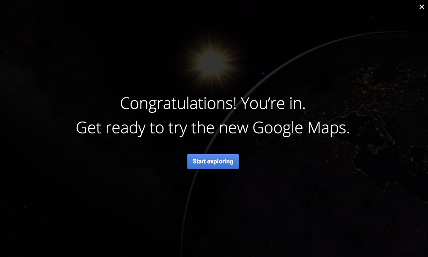 New Google Maps invite