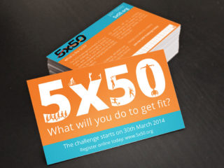 5x50 Challenge 2014 Business Cards
