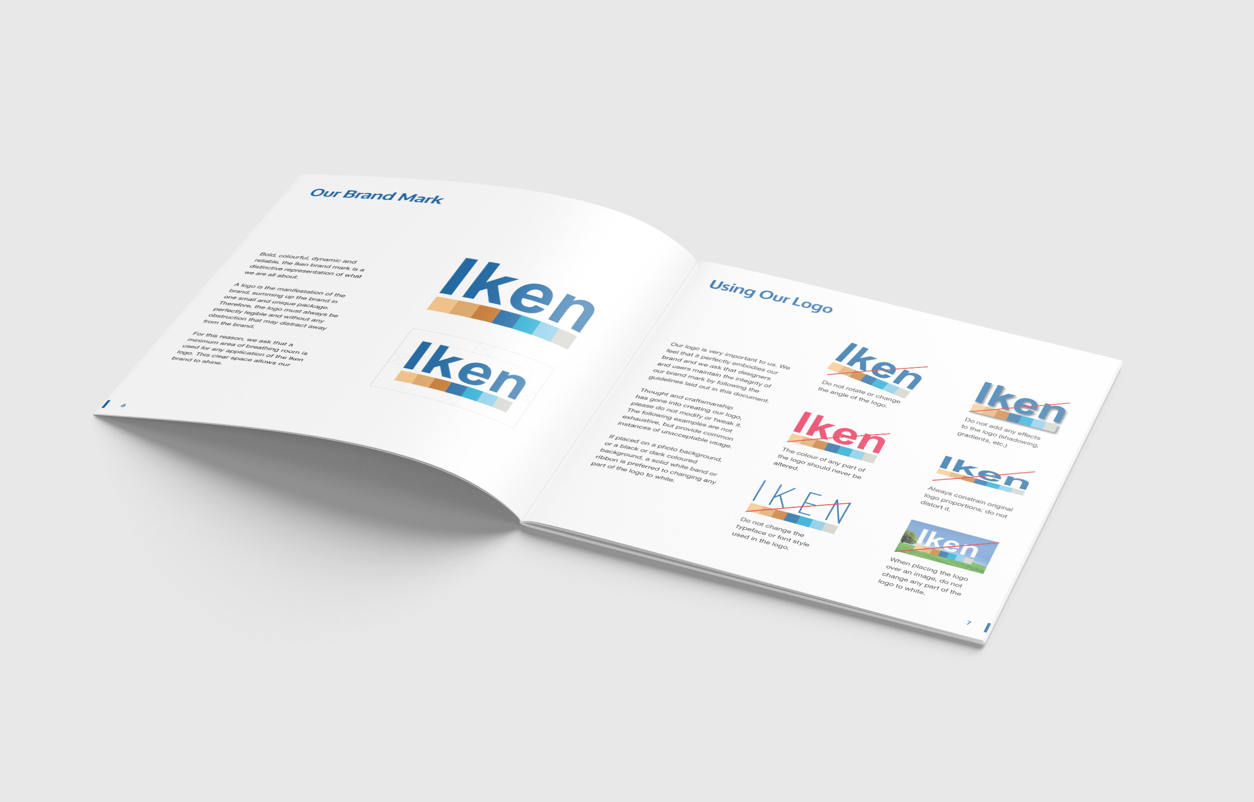Logo usage in the Iken Business brand identity handbook