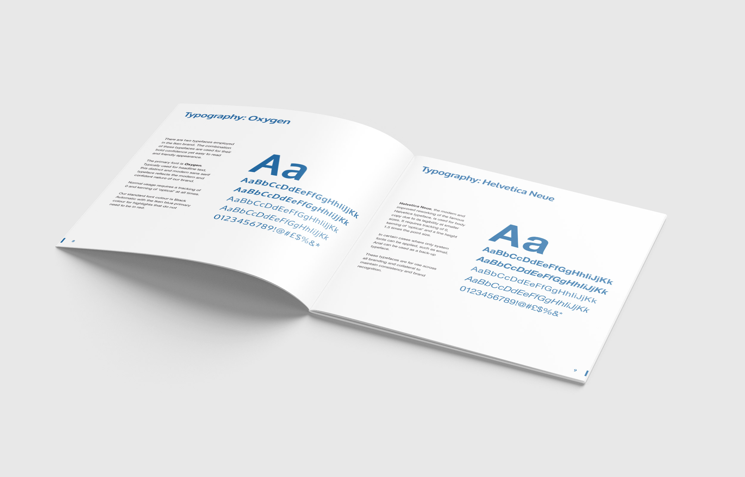 Typography guidelines in Iken Business brand guidelines